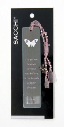 Dream Butterfly Blue Wooden Bookmark