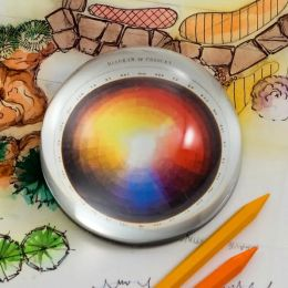 Artist's Color Wheel Crystal Dome Paperweight