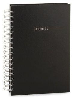 Black Basic Spiral Lined Journal (5.5