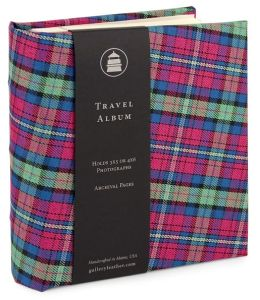 Pink Plaid Travel Photo Album