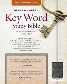 Hebrew-Greek Key Word Study Bible: English Standard Version, Genuine Black Indexed