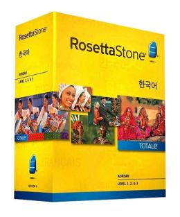 Rosetta Stone Korean v4 TOTALe - Level 1, 2 & 3 Set - Learn Korean