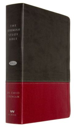 The Jeremiah Study Bible, NKJV: Charcoal/Burgundy LeatherLuxe: What It Says. What It Means. What It Means For You.