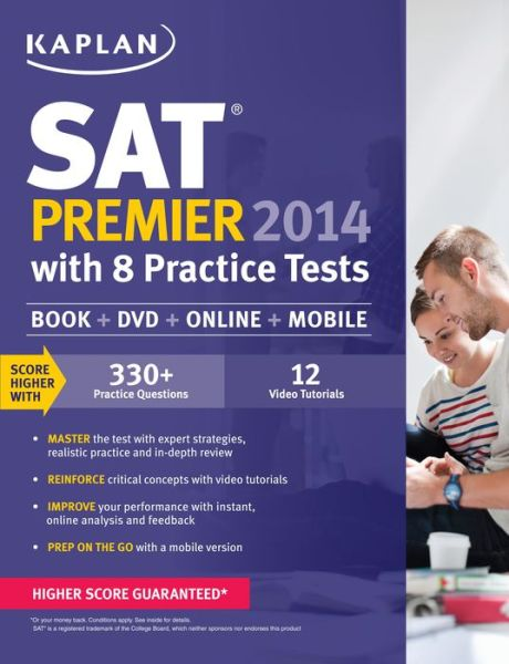 Kaplan SAT Premier 2014 with 8 Practice Tests: book + online + DVD + mobile