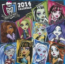 2014 Monster High Wall Calendar