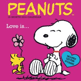 2014 Peanuts Love is Wall Calendar