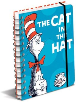 Dr. Seuss Cat in the Hat Spiral Lined Journal 6.5