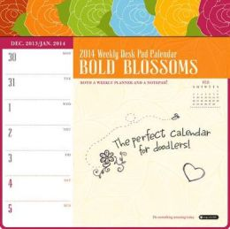 2014 Bold Blossoms Weekly Desk Pad Calendar