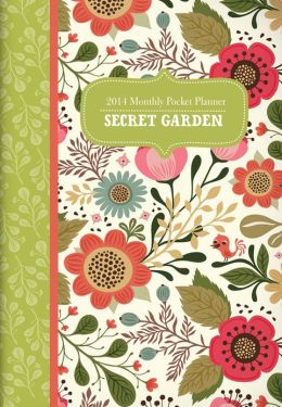 2014 Secret Garden Monthly Pocket Planner