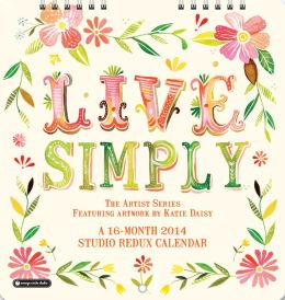 2014 Live Simply Studio Redux Mini Wall Calendar