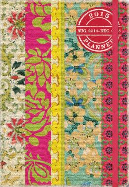 2015 Bohemian Vintage Floral Deconstructed Planner Calendar