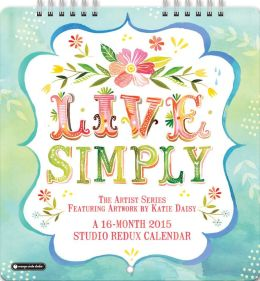 2015 Live Simply Studio Redux Mini Wall Calendar