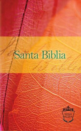 Reina Valera Compact Bible - Orange/Red Leaf: Santa Biblia