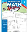 Book Cover Image. Title: Common Core Math 4 Today, Grade 5:  Daily Skill Practice, Author: Carson-Dellosa Publishing