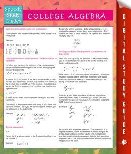College Algebra (Speedy Study Guides) by Speedy Publishing ...
