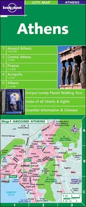 Lonely Planet City Map Athens