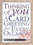 Book Cover Image. Title: Thinking of You:  A Card Greeting For Every Occasion, Author: Katie Hewat