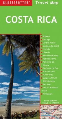Costa Rica Travel Map, 5th