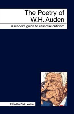 Poetry Of W.H. Auden