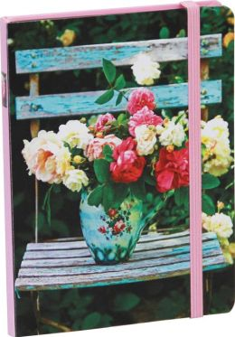 Peonies and Roses Mini Notebook