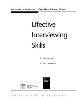 Effective Interviewing Skills, Workbook