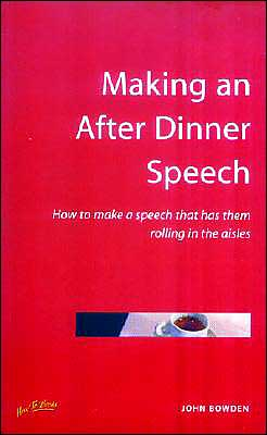 Making an after Dinner Speech