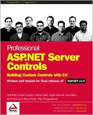Professional Asp.Net Server Controls - Building Custom Controls with C#