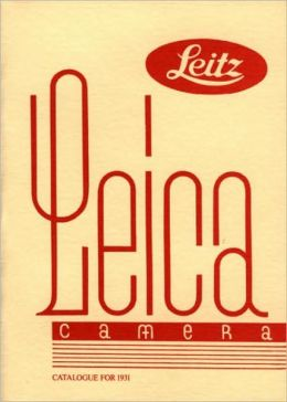 Leica Camera Catalogue for 1931