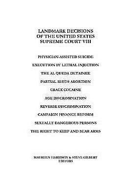 Landmark Decisions Of The United States Supreme Court Viii