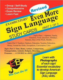 Even More Sign Language 3 Of 3: Exambusters Study Cards