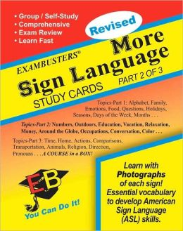 More Sign Language 2 Of 3: Exambusters Study Cards