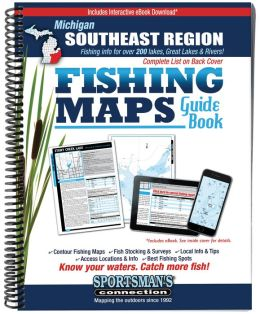 Michigan - Southeastern Fishing Map Guide: Lake Maps and Fishing Information for about 200 Lakes Plus Lake Erie, Detroit and St. Claire Rivers Covering the Counties of Clinton, Genesee Hillsdale, Ingham, Jackson, Lapeer, Lenawee, Livingston,