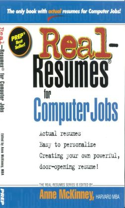 Real-Resumes for Computer Jobs