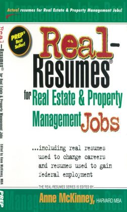 Real-Resumes for Real Estate & Property Management Jobs