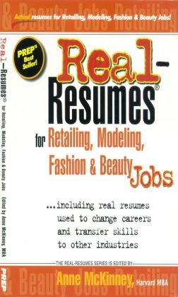 Real-Resumes for Retailing, Modeling, Fashion & Beauty