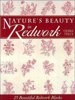Nature's Beauty in Redwork: 25 Beautiful Redwork Blocks