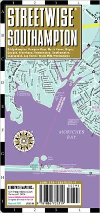 Streetwise Southampton Map - Laminated City Street Map of Southampton, New York - Folding Pocket Size Travel Map (2011)
