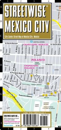 Streetwise Mexico City Map - Laminated City Center Street Map of Mexico City, MX - Folding Pocket Size Travel Map With Metro (2013)