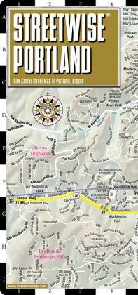 Streetwise Portland Map - Laminated City Center Street Map of Portland, Oregon - Folding Pocket Size Travel Map With Metro (2014)