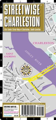 Streetwise Charleston Map - Laminated City Center Street Map of Charleston, South Carolina - Folding Pocket Size Travel Map (2013)