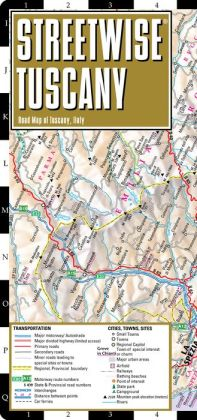 Streetwise Tuscany Map - Laminated Road Map of Tuscany, Italy - Folding Pocket Size Travel Map (2013)