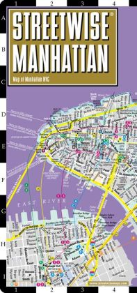 Streetwise Manhattan Map - Laminated City Street Map of Manhattan, New York - Folding Pocket Size Travel Map With Subway (2015)