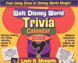 Walt Disney World Trivia Calendar 2009