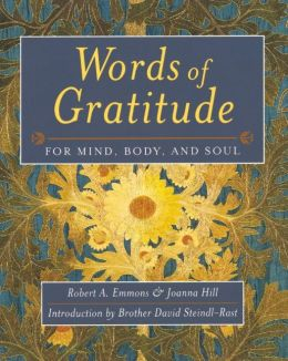 Words of Gratitude for Mind, Body and Soul