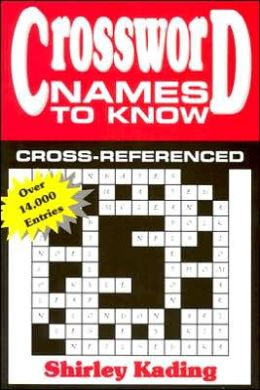 Crossword Names to Know