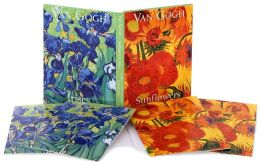 Van Gogh Sunflowers Portfolio notes set of 10