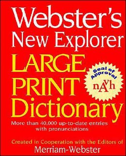 Webster's Large Print Dictionary
