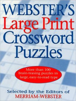 Webster's Large Print Crossword Puzzles