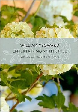 William Yeoward Entertaining with Style Thank You Cards [With 20 Envelopes]