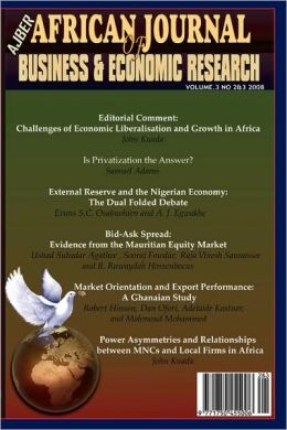 African Journal Of Business And Economic Research Vol 3 Nos 2&3 2008